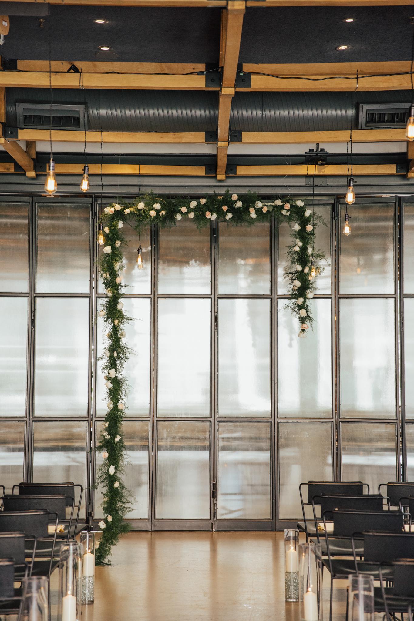 asymmetrical wedding arch