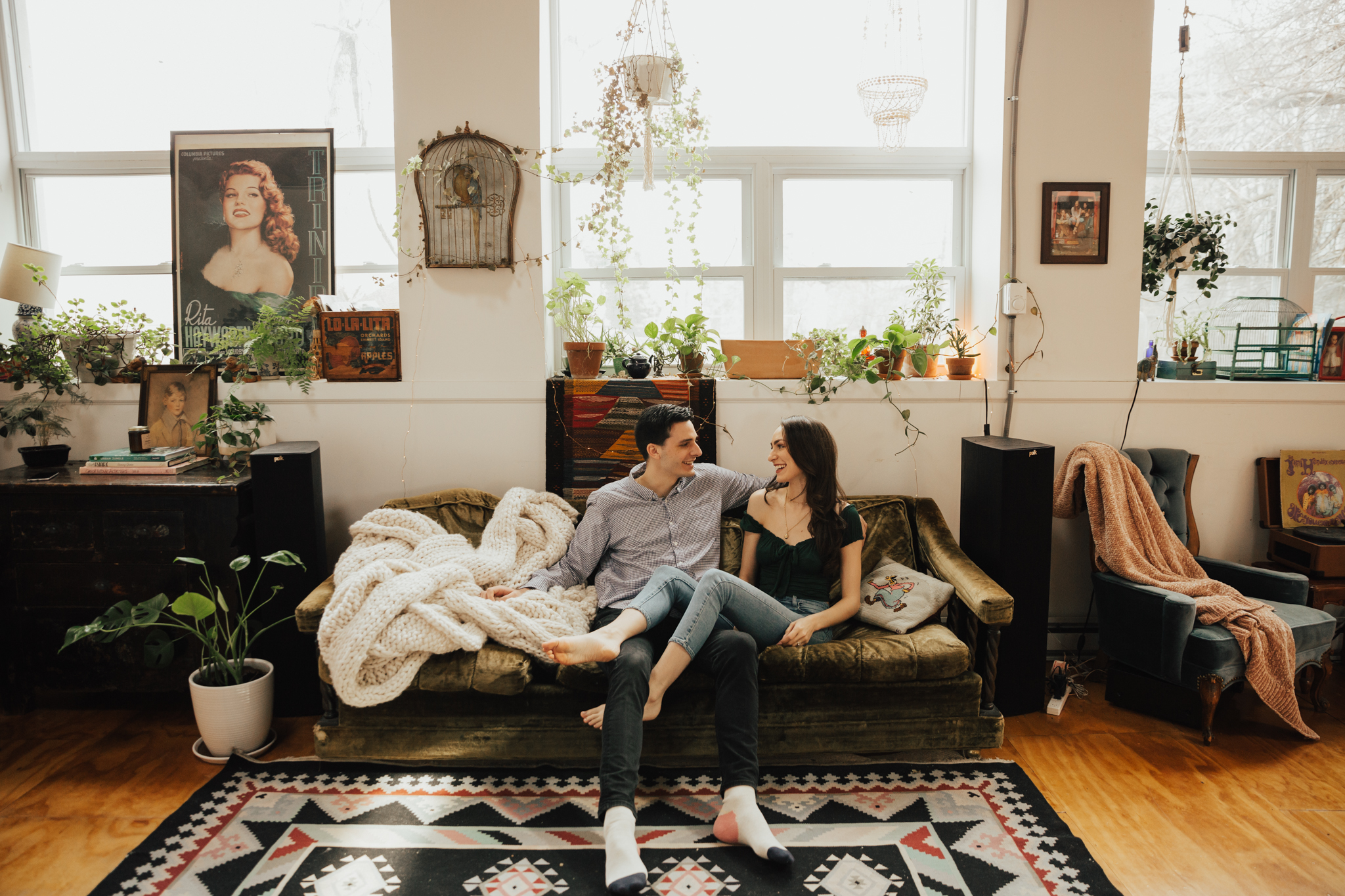 COZY AT HOME ENGAGEMENT SESSION BROOKLYN