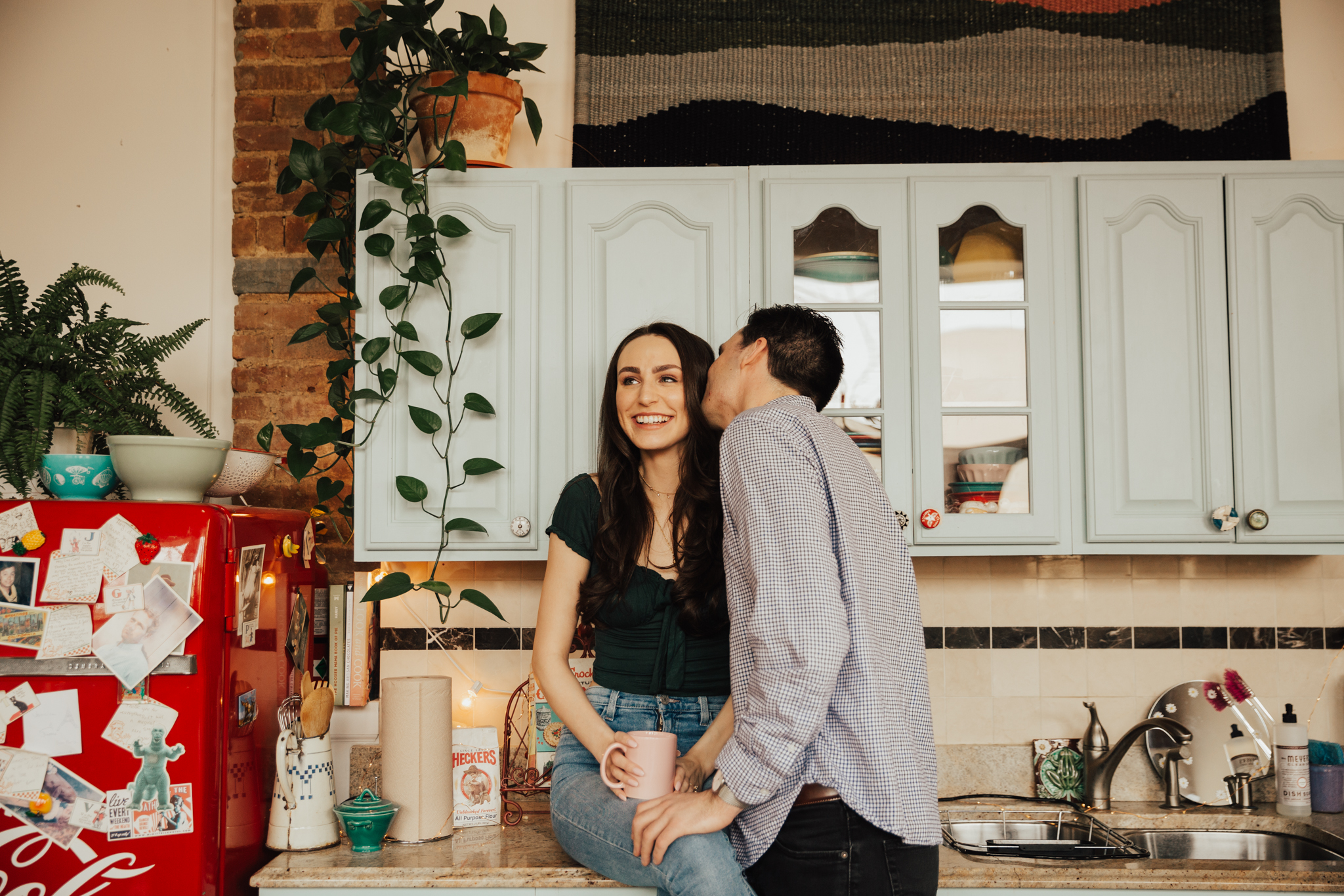 NYC In-Home Dumbo Brooklyn Engagement