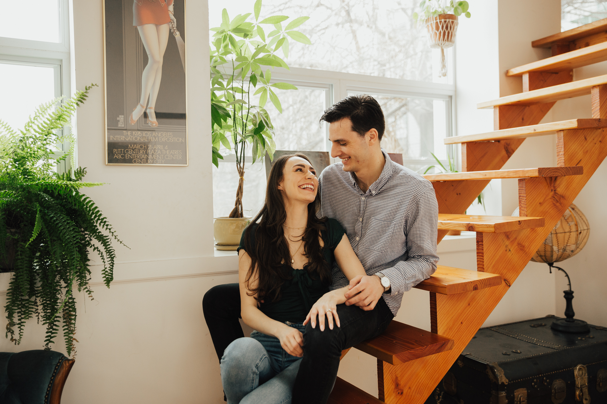 COZY AT HOME ENGAGEMENT SESSION