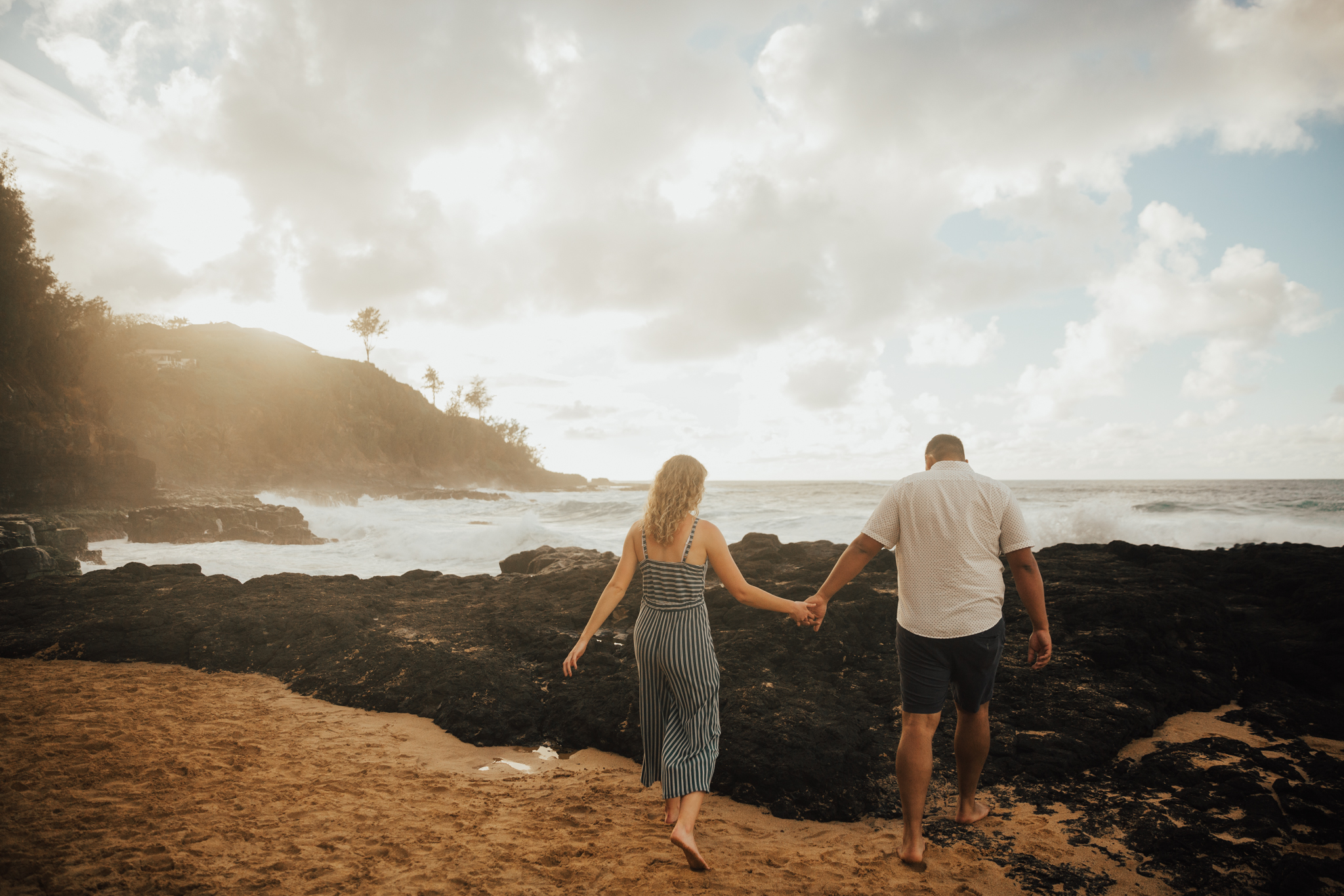 Kauai beach engagement