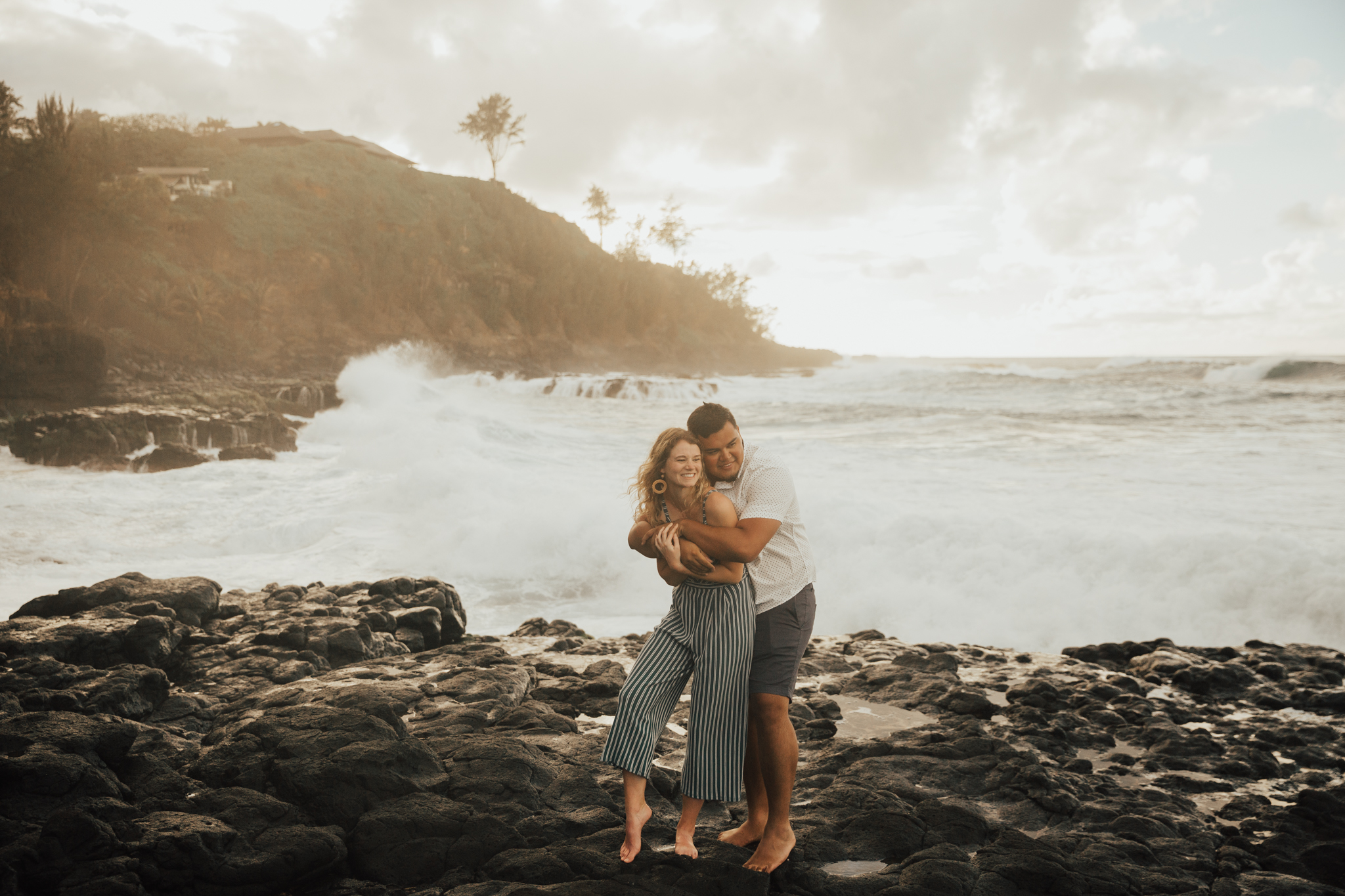 Kauai Engagement Session Secret Beach
