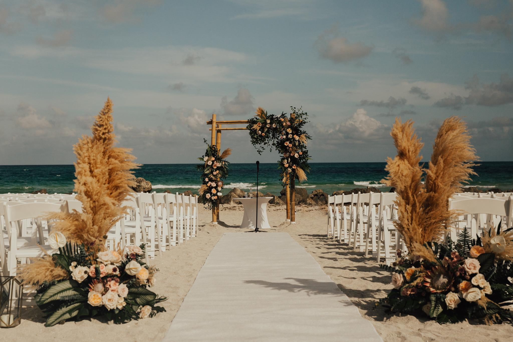 boho chic beach wedding
