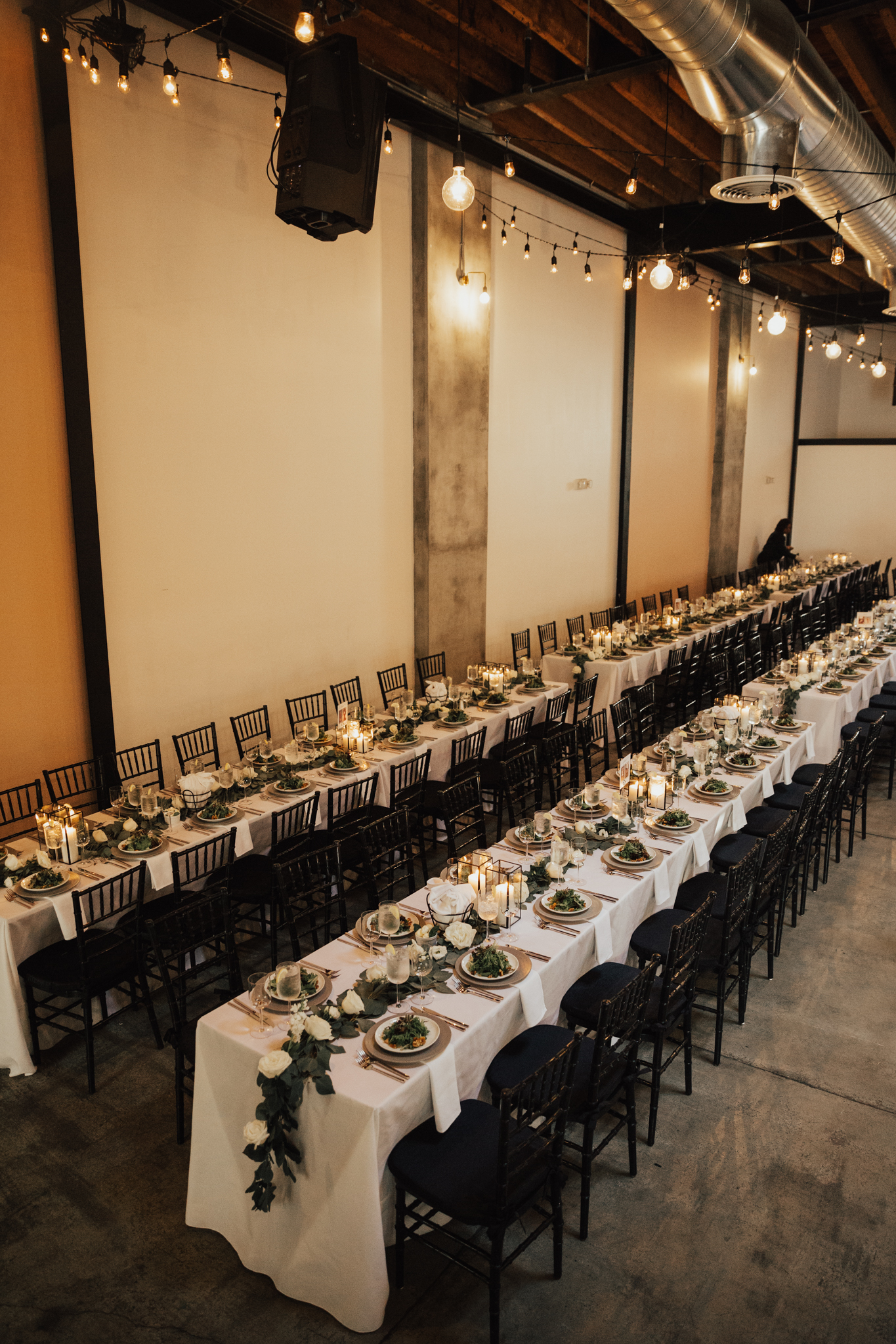 industrial warehouse wedding