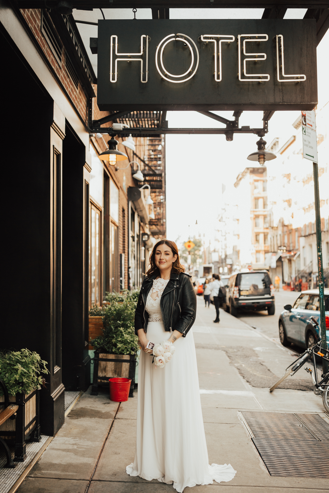 Stylish elopement NYC