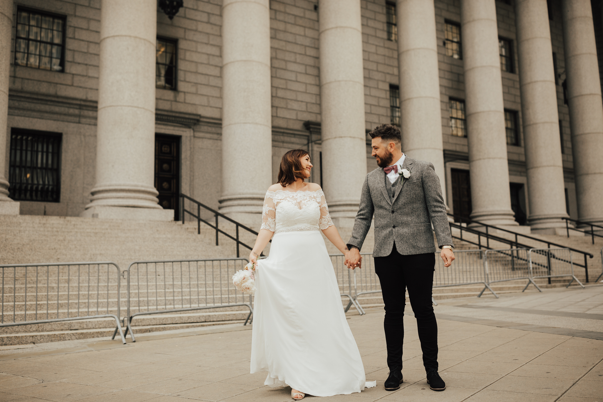 Fun couple NYC wedding