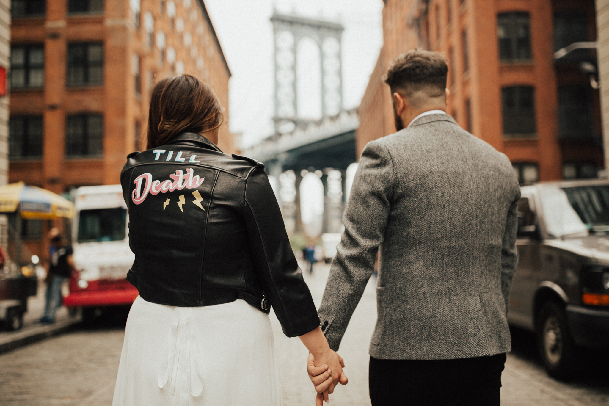 custom leather jacket wedding