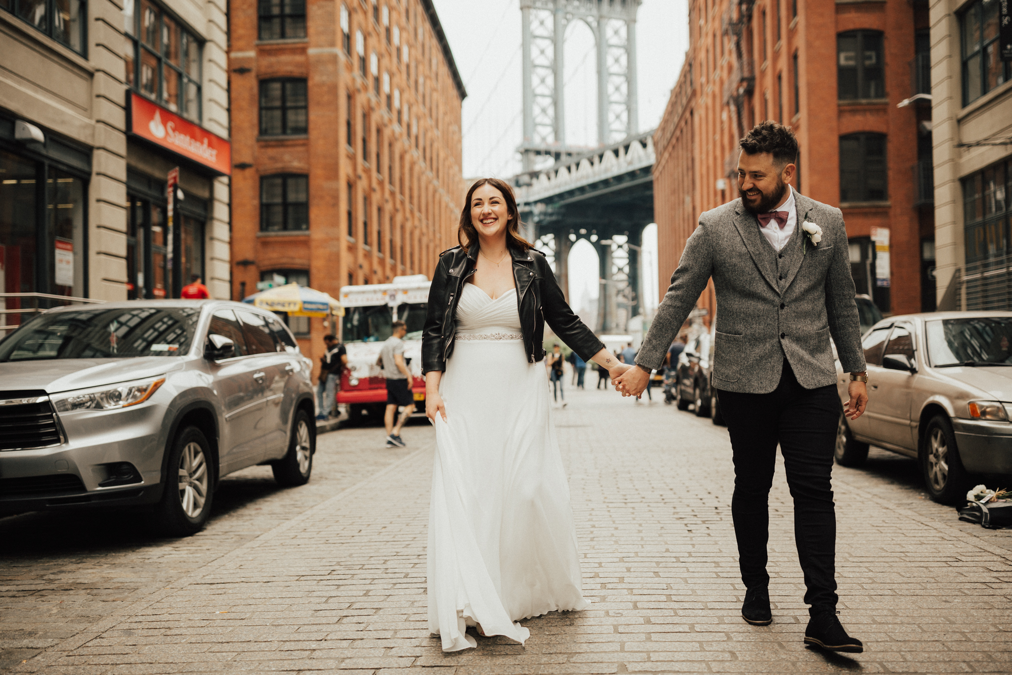 Funky couple NYC wedding