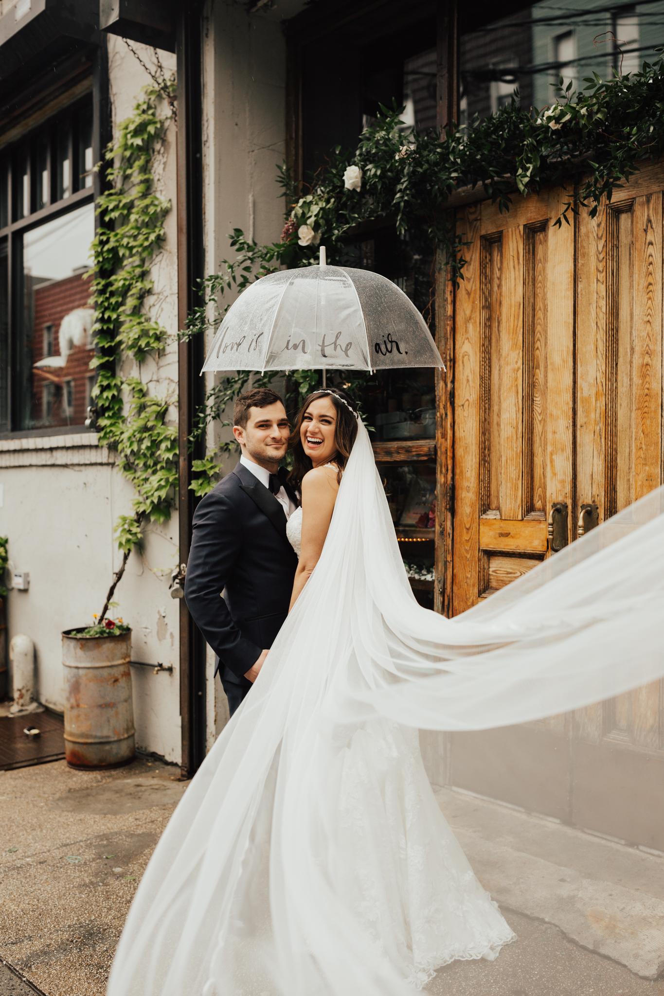 rainy day wedding nyc