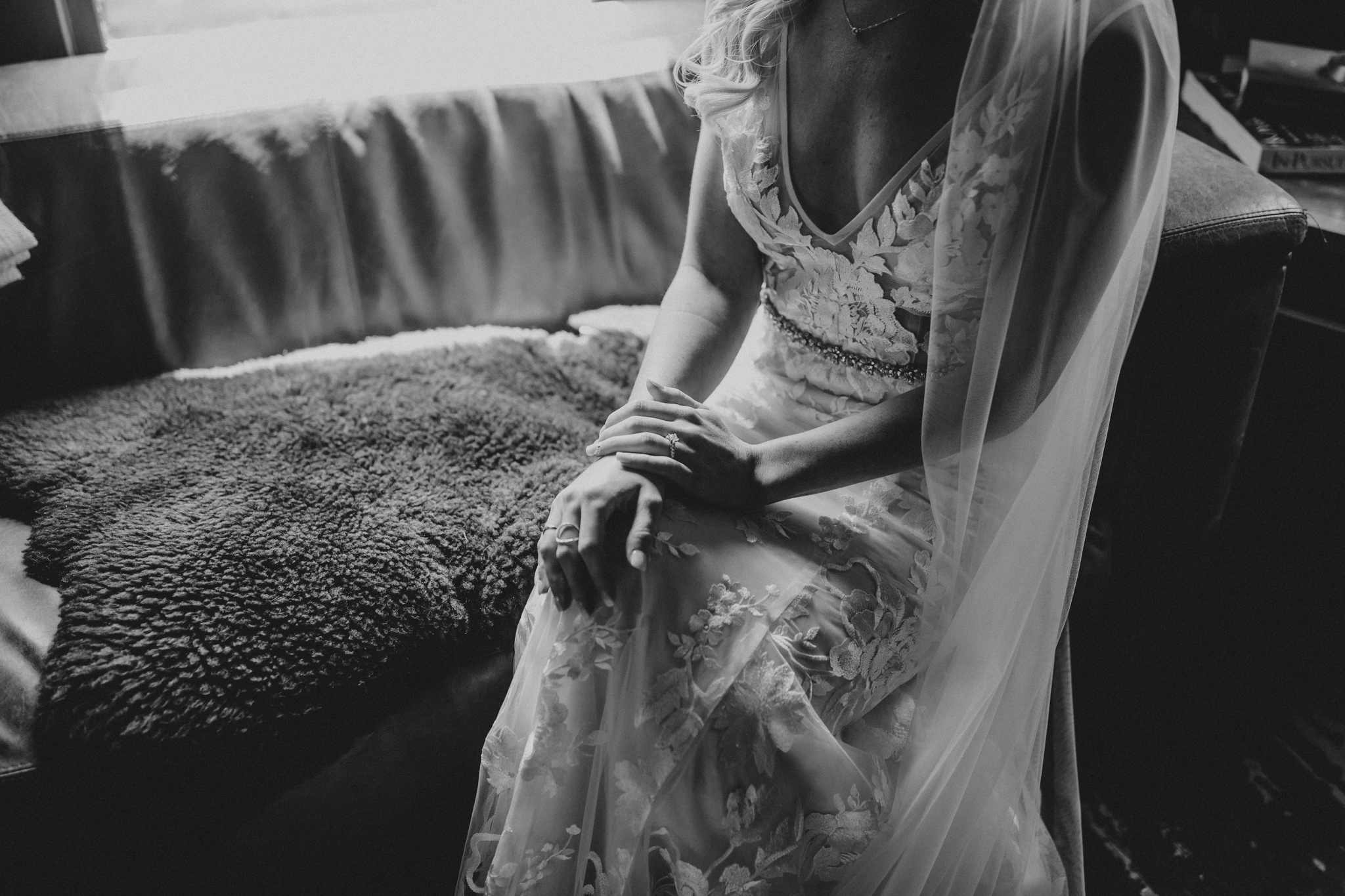 detail photo of wedding dress
