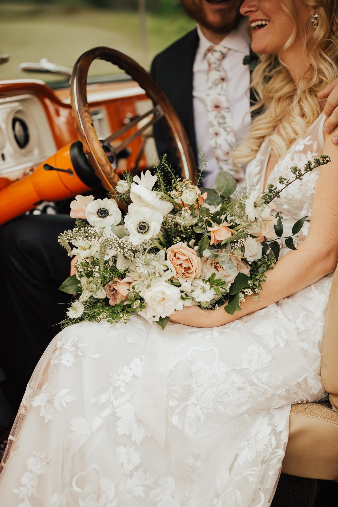 vintage wedding truck