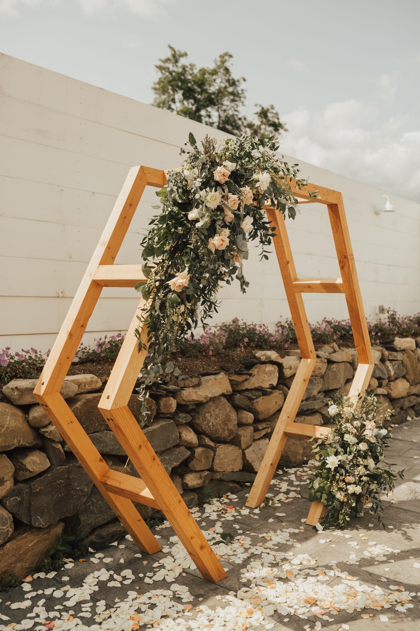boho wedding ceremony arch