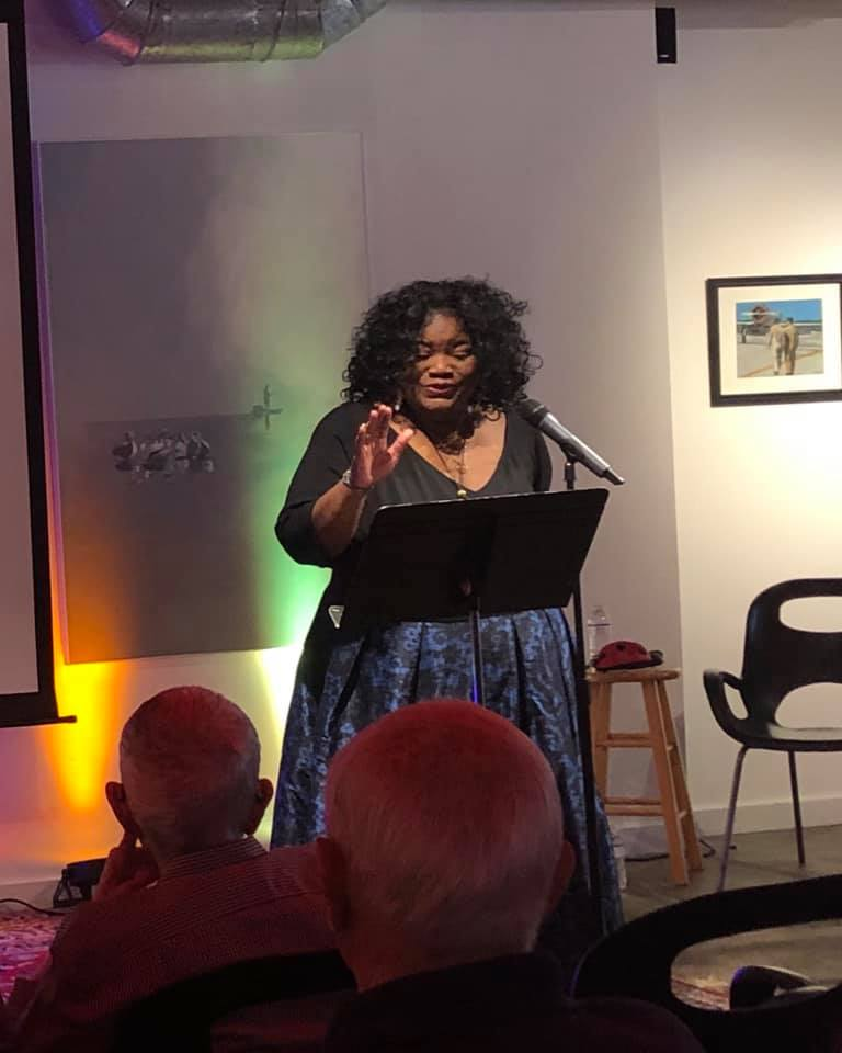 Sharon Scott singing  Rise Up . Photo: Scott Hartman