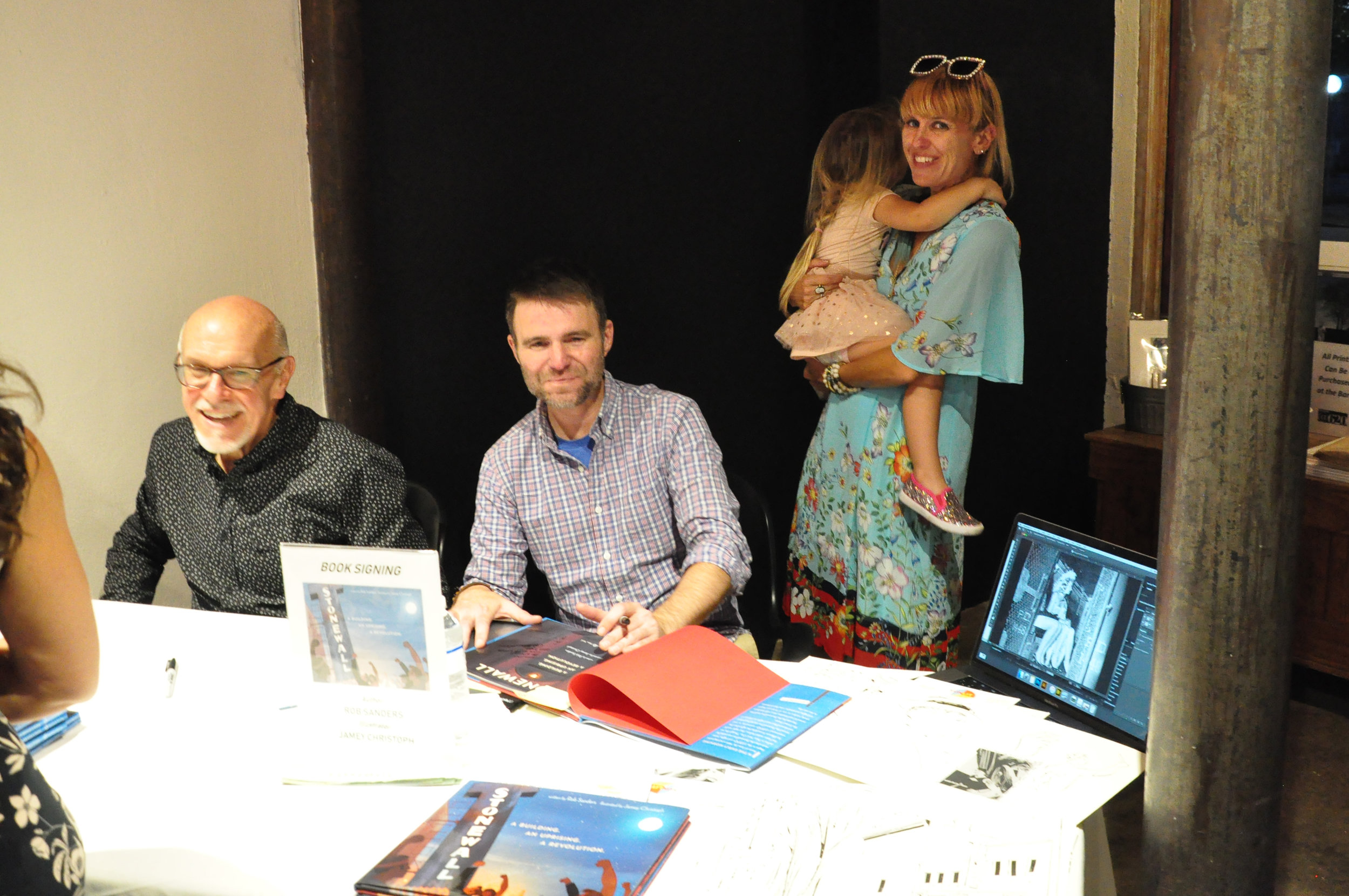 Singing books with Rob Sanders and my sister, Sarah, and niece, Helena! Photo: Laura Christoph