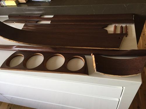 Wooden interior parts