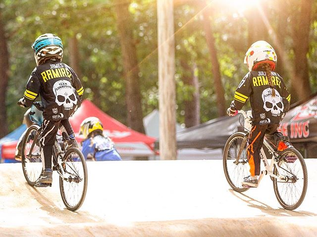 50% of the Ramirez jerseys on the track in one photo. #teamcorrosive #bmx #bmxracing @potterplates