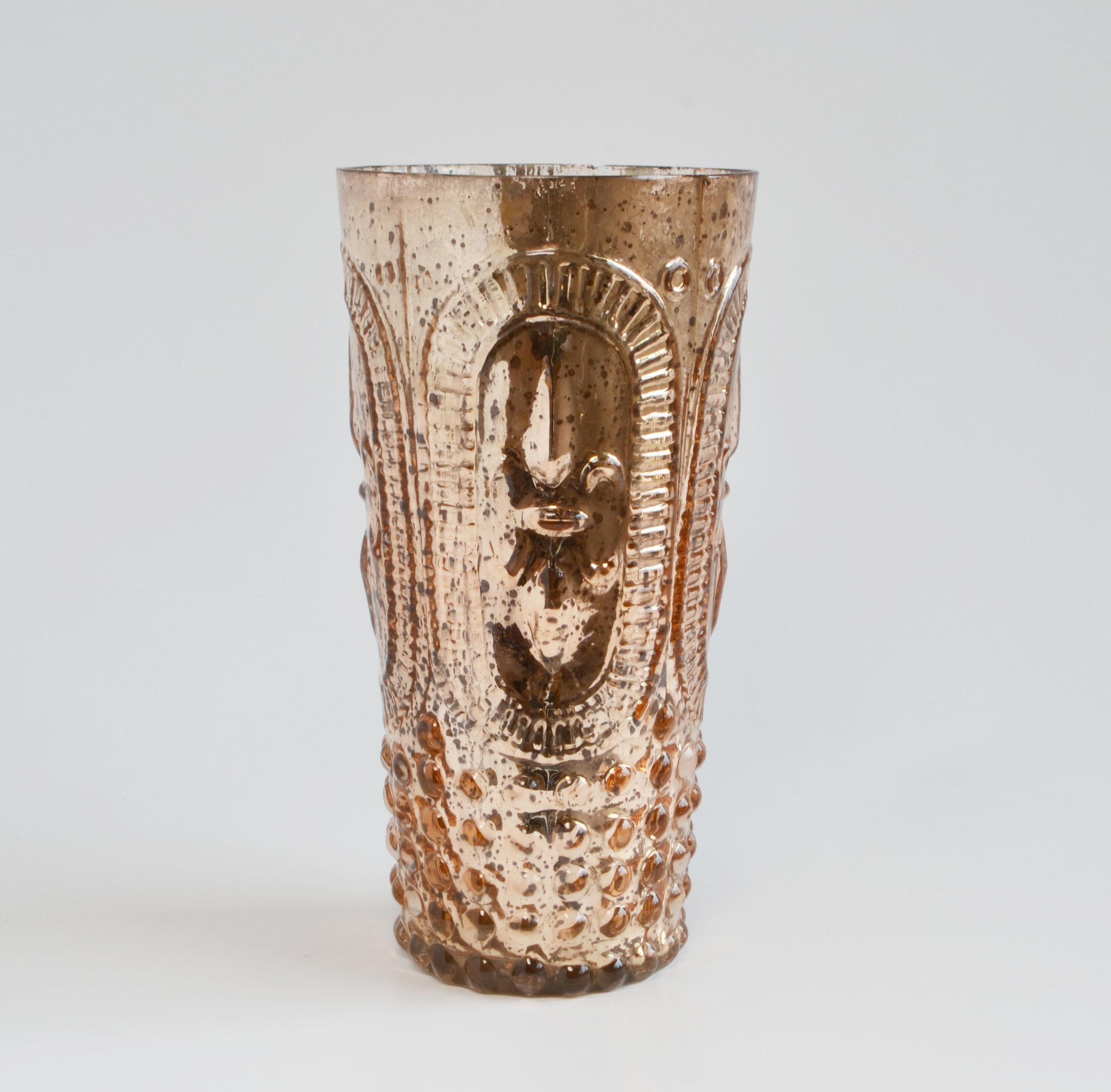 Rose Gold Votive/vase tall   Quantity: 12  Price: $6.50