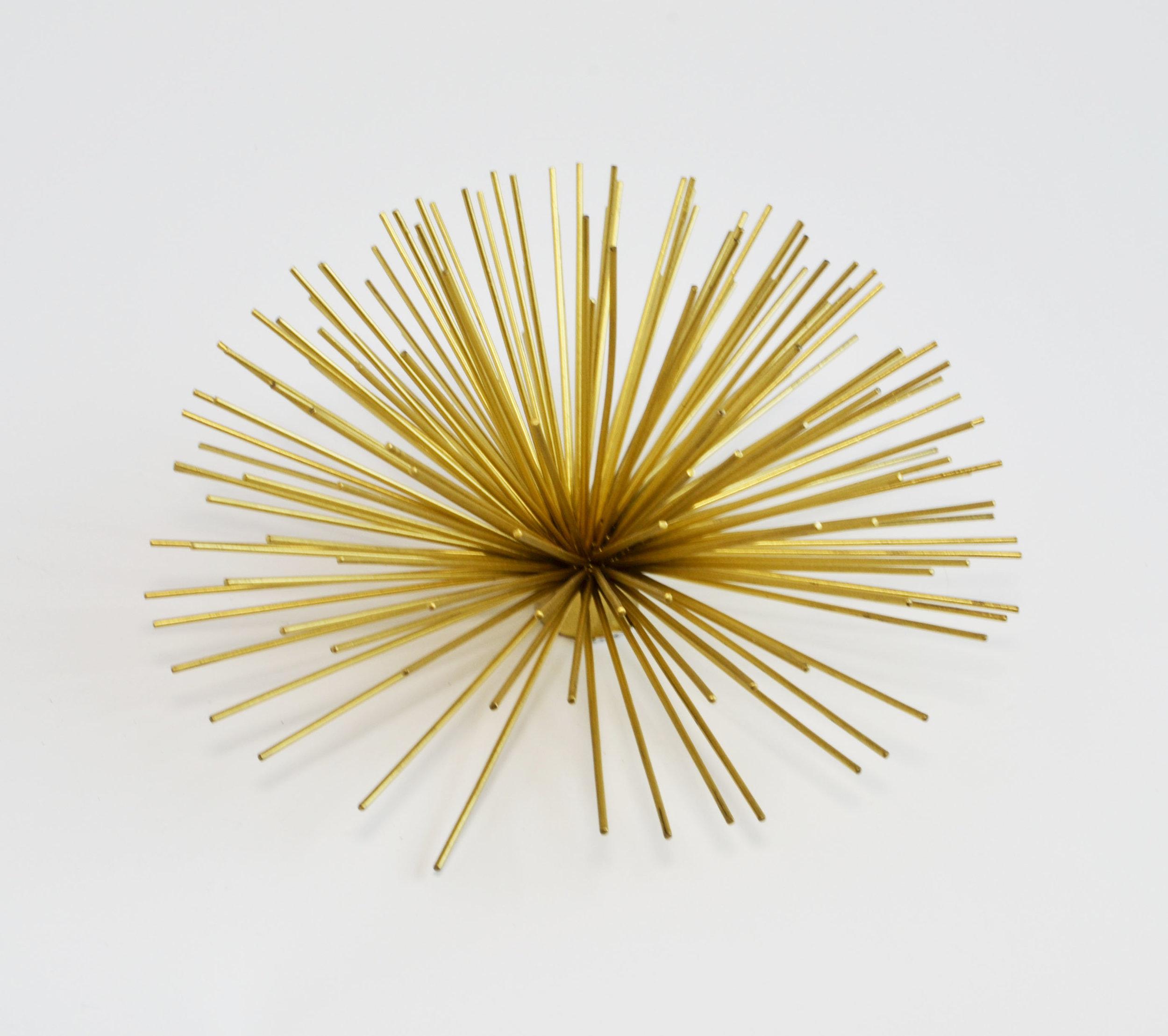 sea urchin - gold decor (large)   Quantity: 15  Price: $6.50