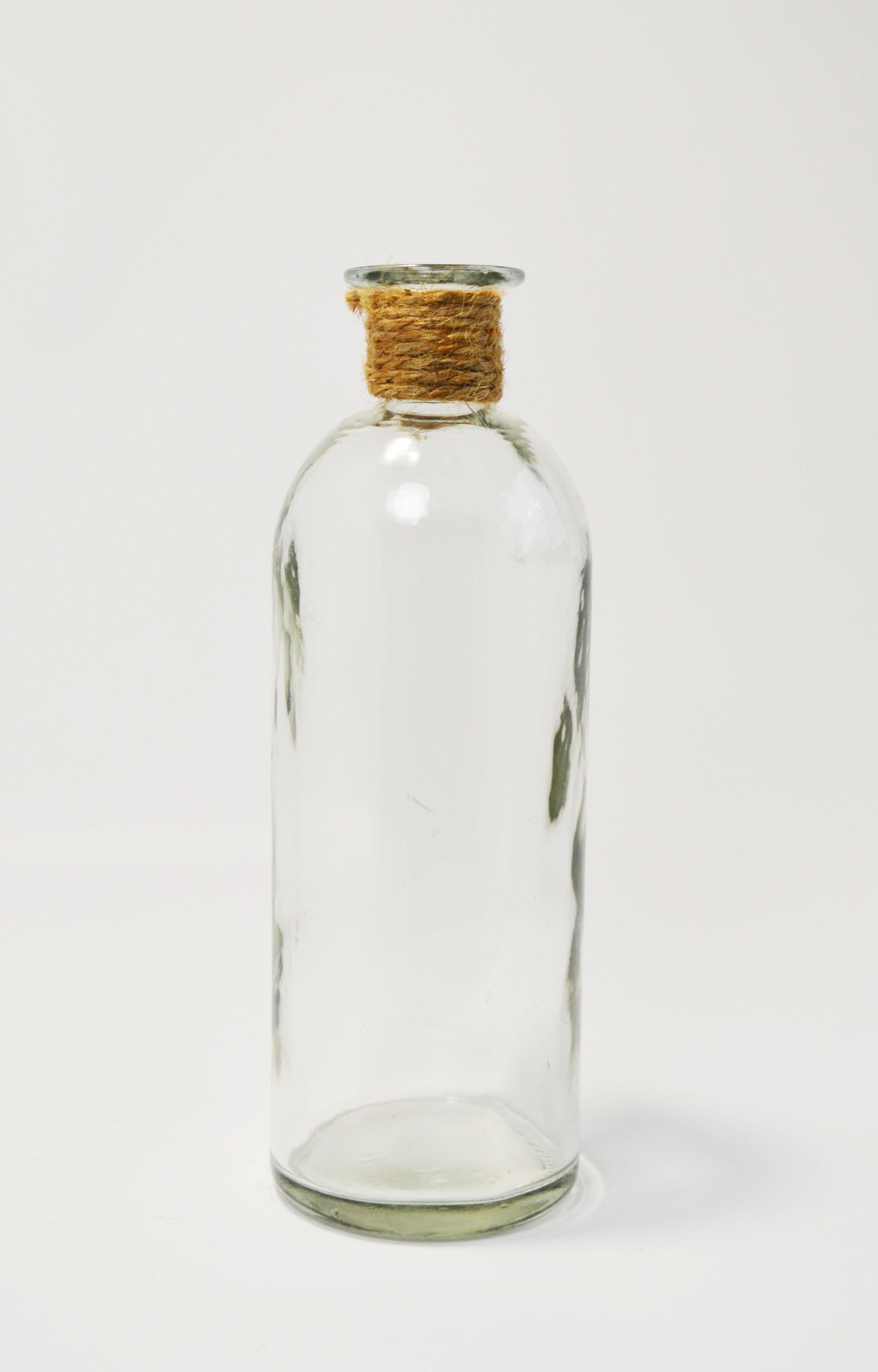glass + rope vase - medium   Quantity: 3  Price: $4.50