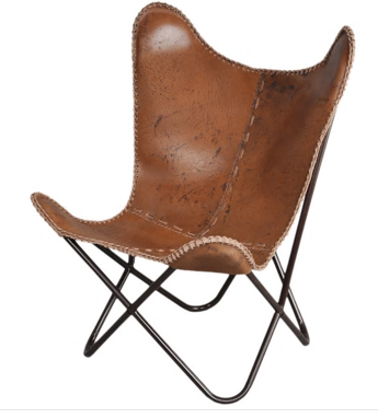 leather butterfly chair   Quantity: 2  Price: $75.00