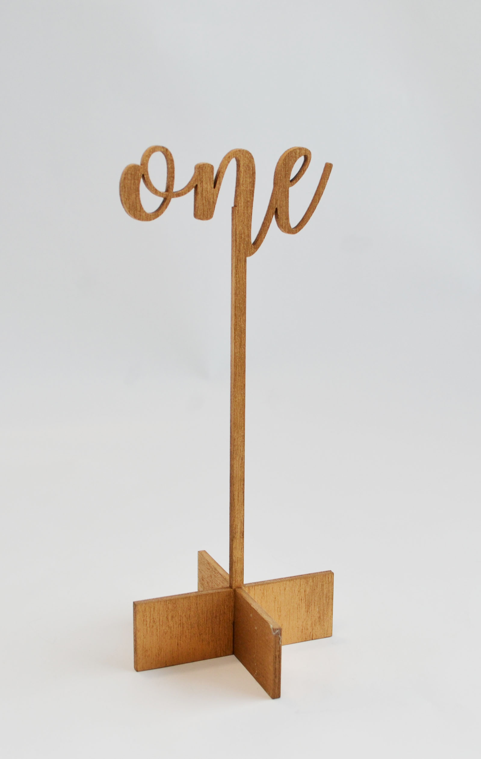 cut-out script - wood table number   Quantity: 15  Price: $10.00