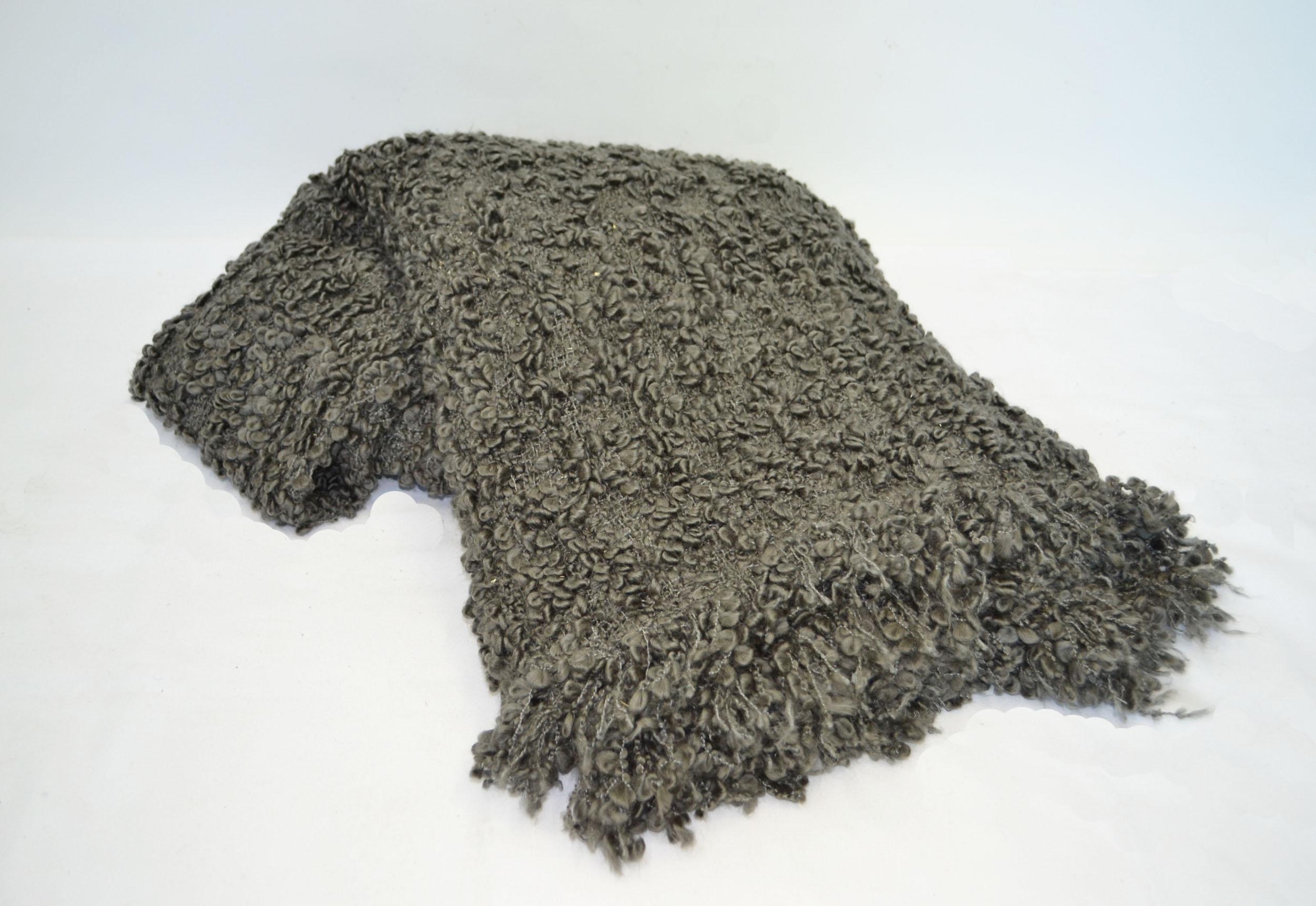 grey shag throw blanket   Quantity: 1  Price: $5.50