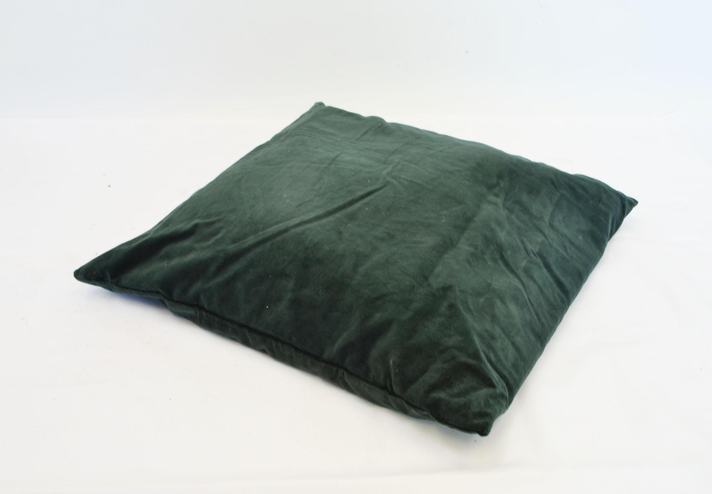 evergreen velvet pillow   Quantity: 3  Price: $10.00