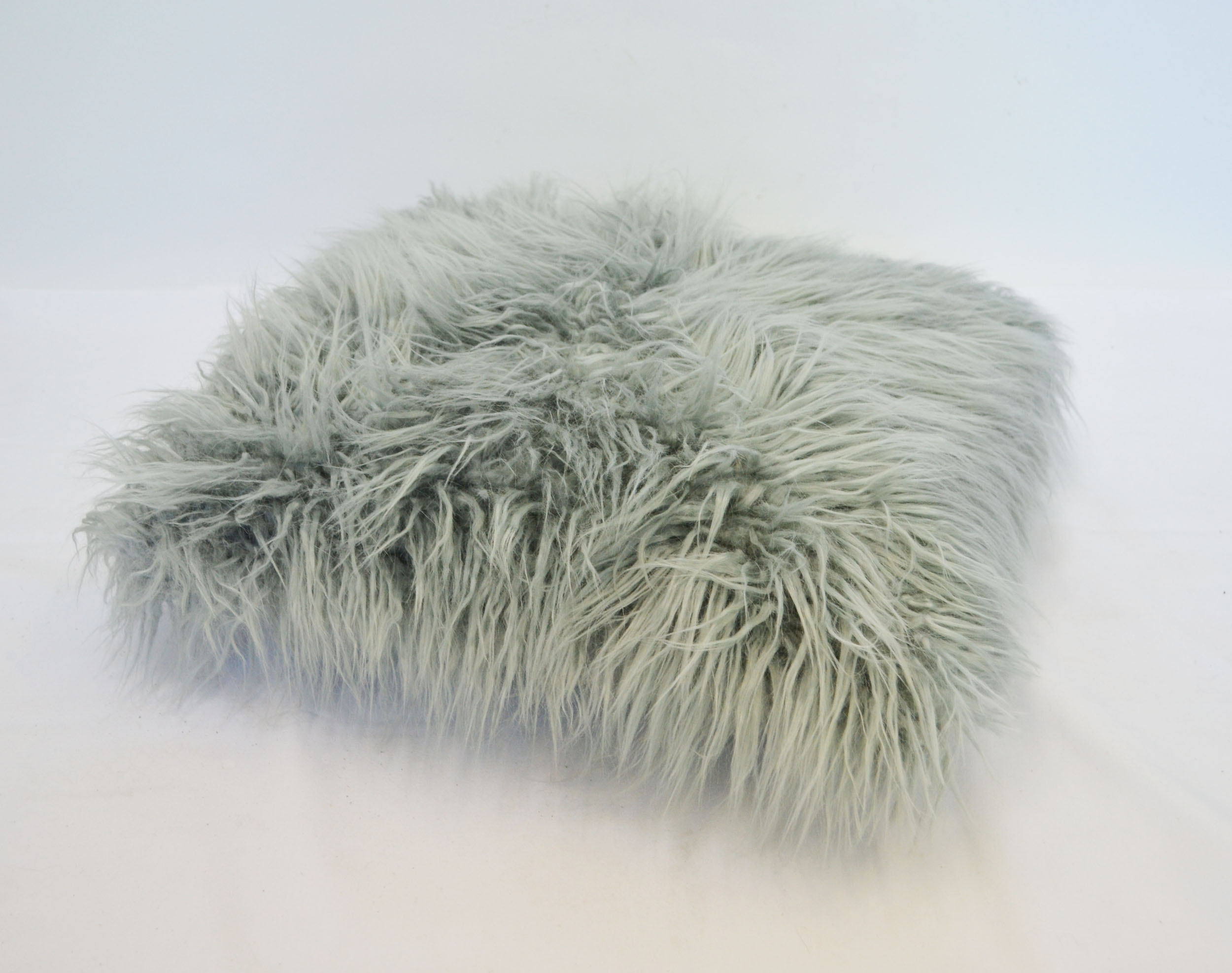 grey shag pillow   Quantity: 1  Price: $10.00
