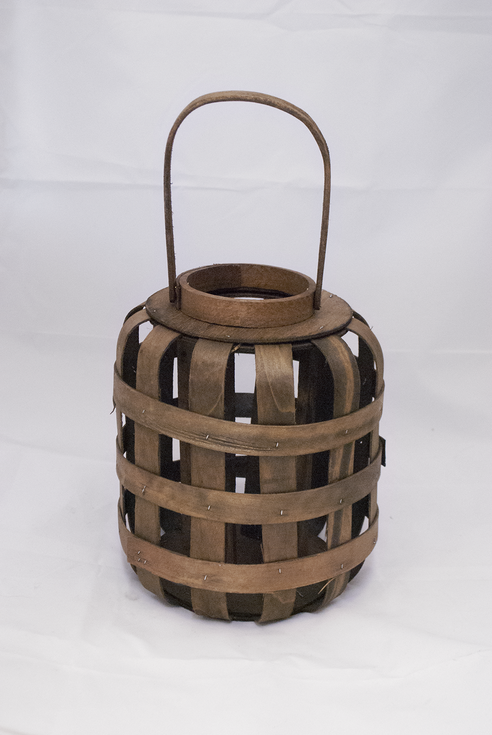 koko Lantern (oval)  weaved wood + glass cylinder  Quantity: 2  Price: $20.00