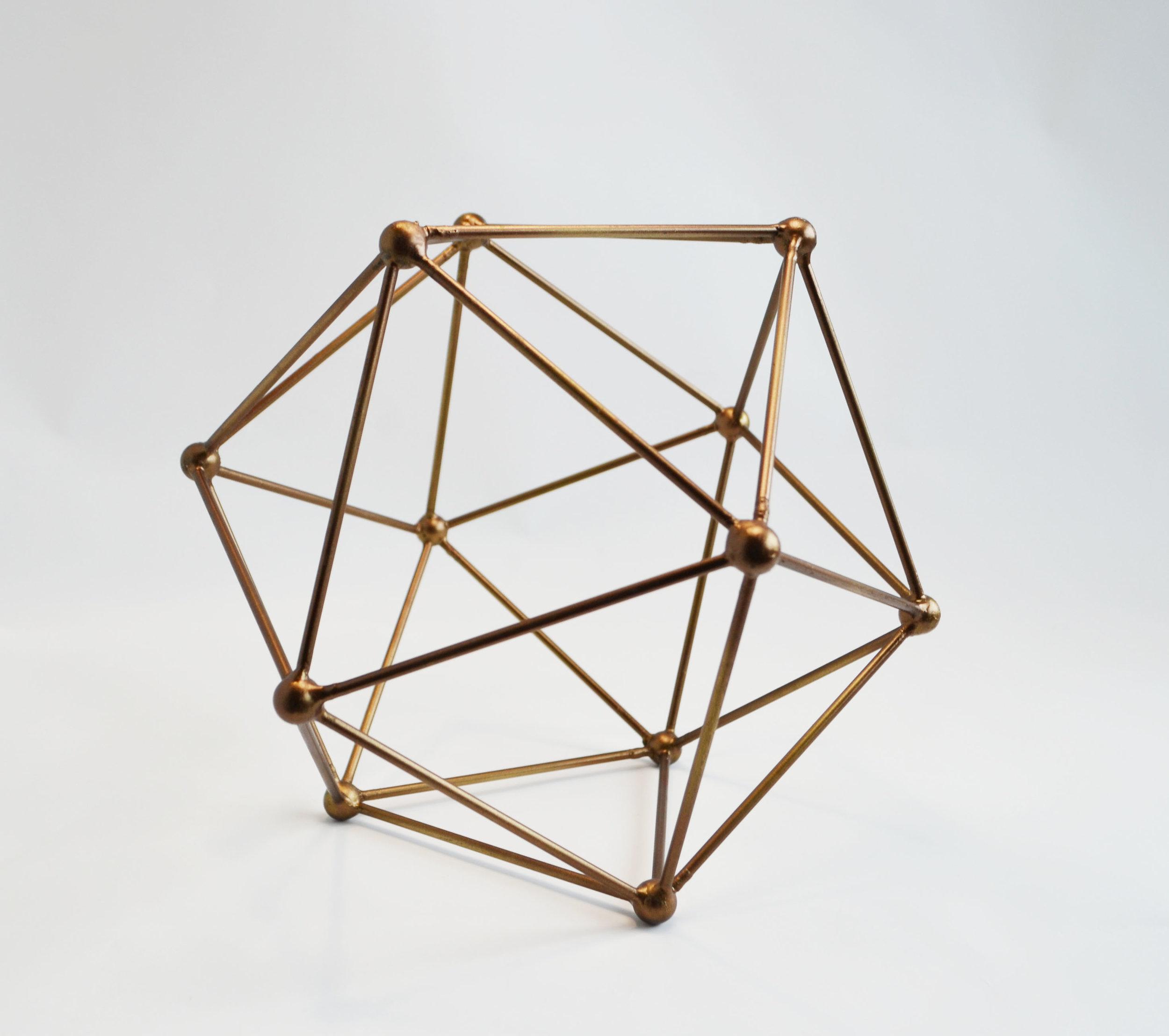 bronze polygon   Quantity: (s) 5 - (L) 8  Price: (s) $10.00 - (L) $12.00