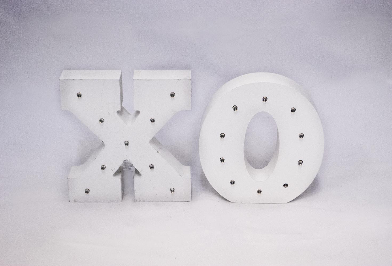 ' xo ' marquee letters   Quantity: 1  Price: $10.00