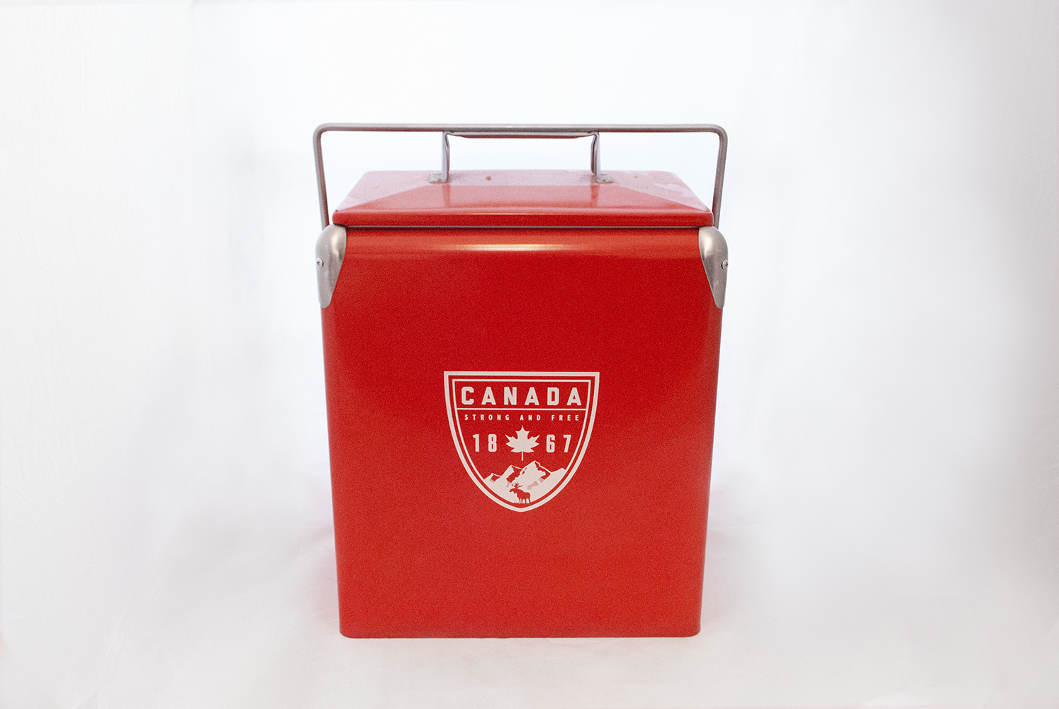 red 'canada' cooler   Quantity: 1  Price: