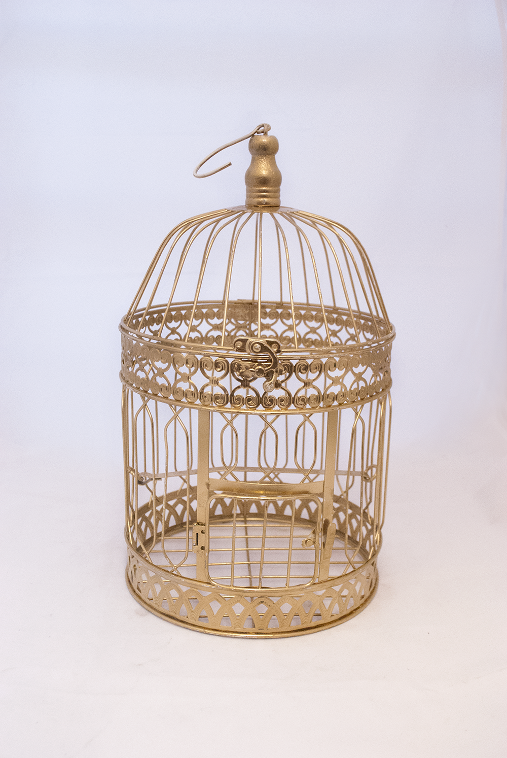gold birdcage (large)   Quantity: 2  Price: $17.00