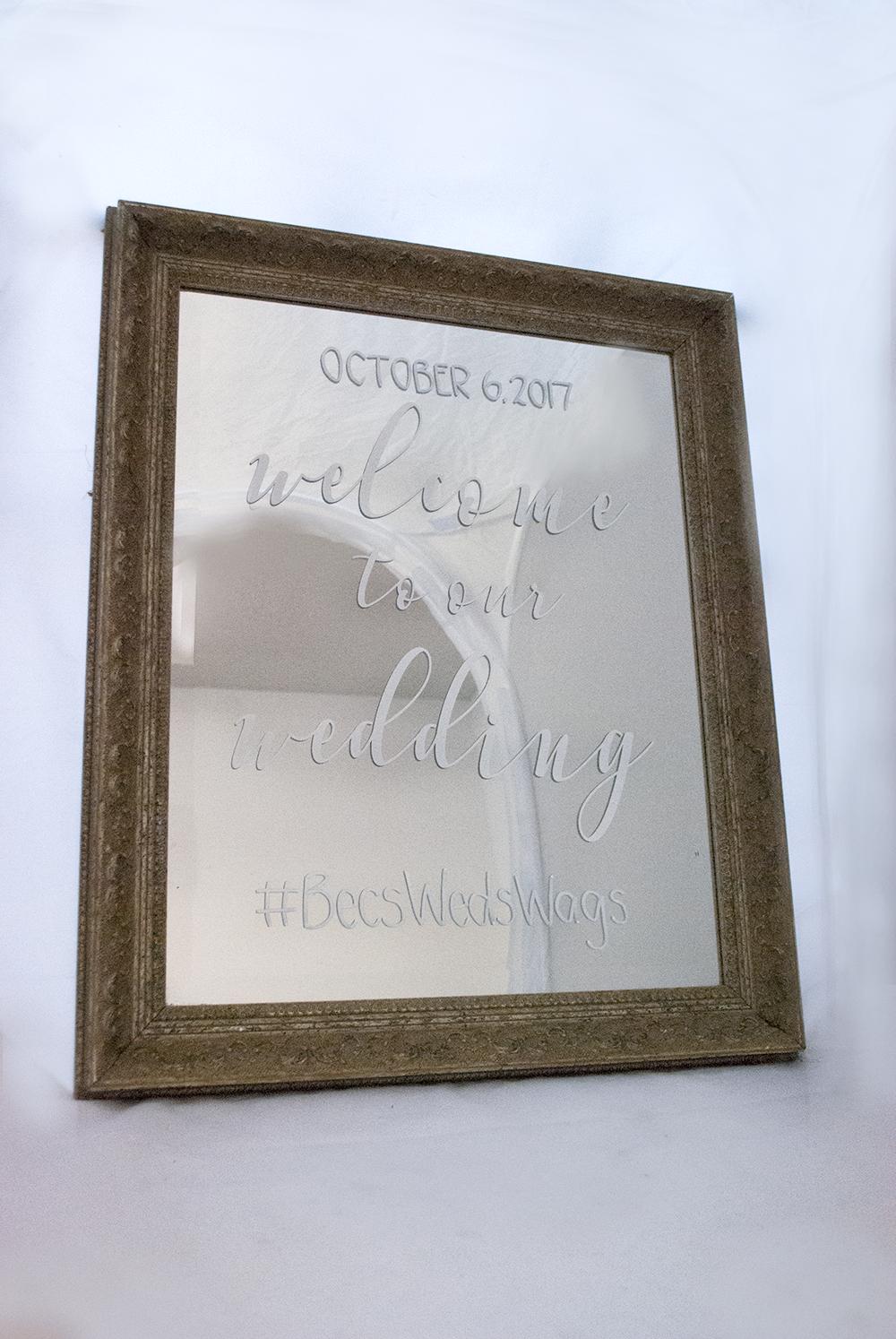 gold mirror - small  Quantity: 1  Price: $45.00 ($175 including graphic)