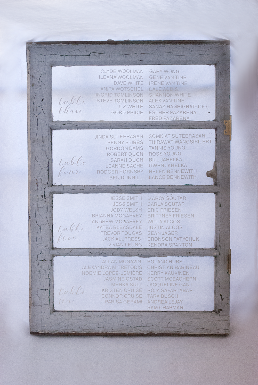 vintage window  Quantity: 4  Price: $35.00 ($175 including graphic)