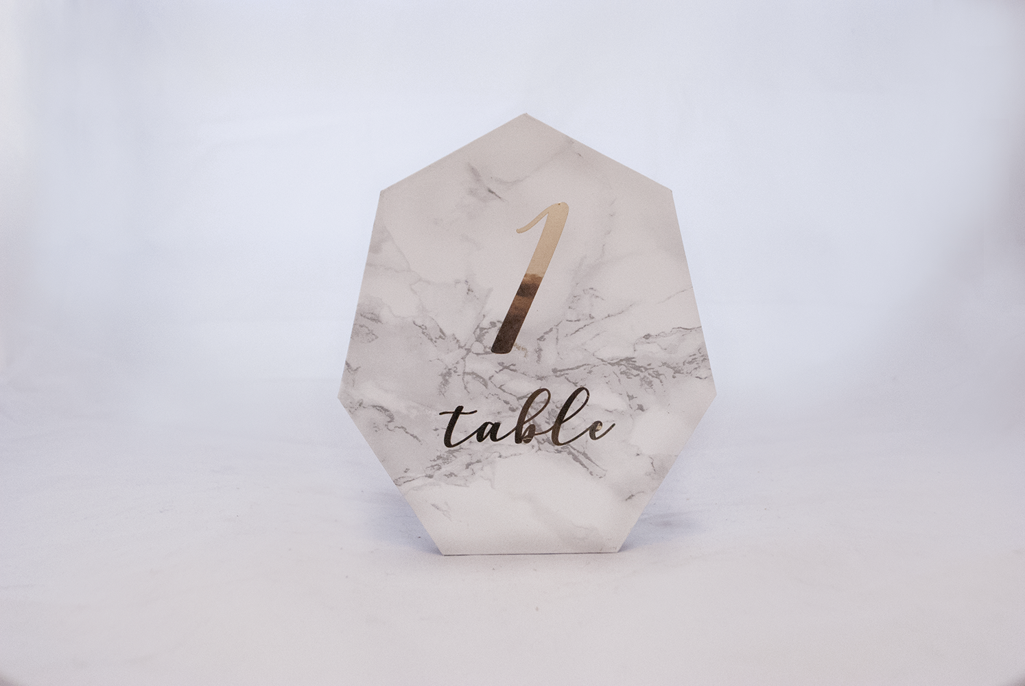 hex marble - table number   Quantity: 19  Price: $8.50
