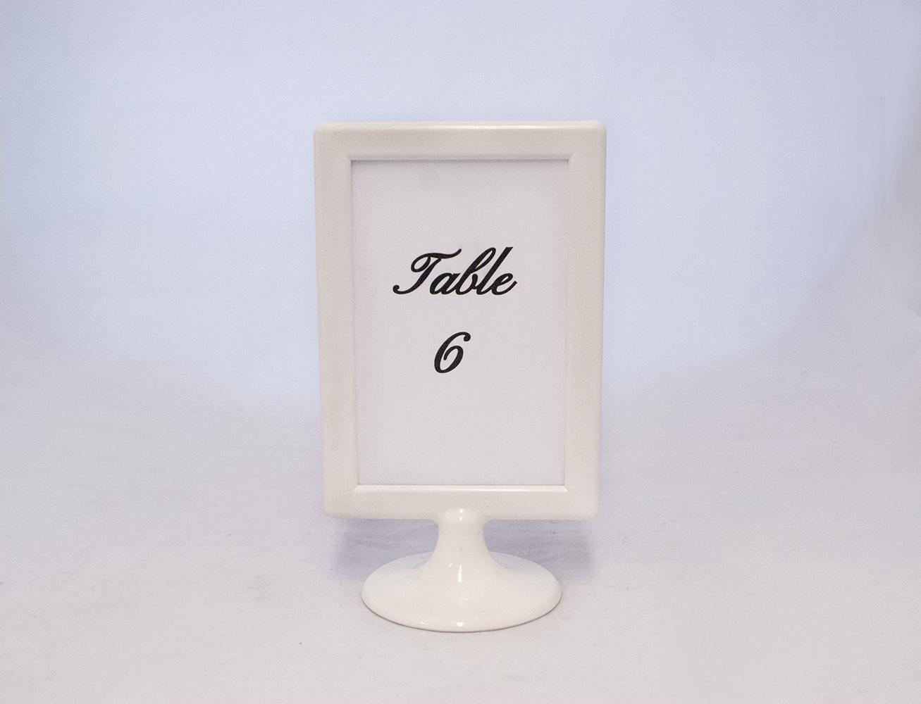 white frame pedestal   Quantity: 14  Price: $8.50
