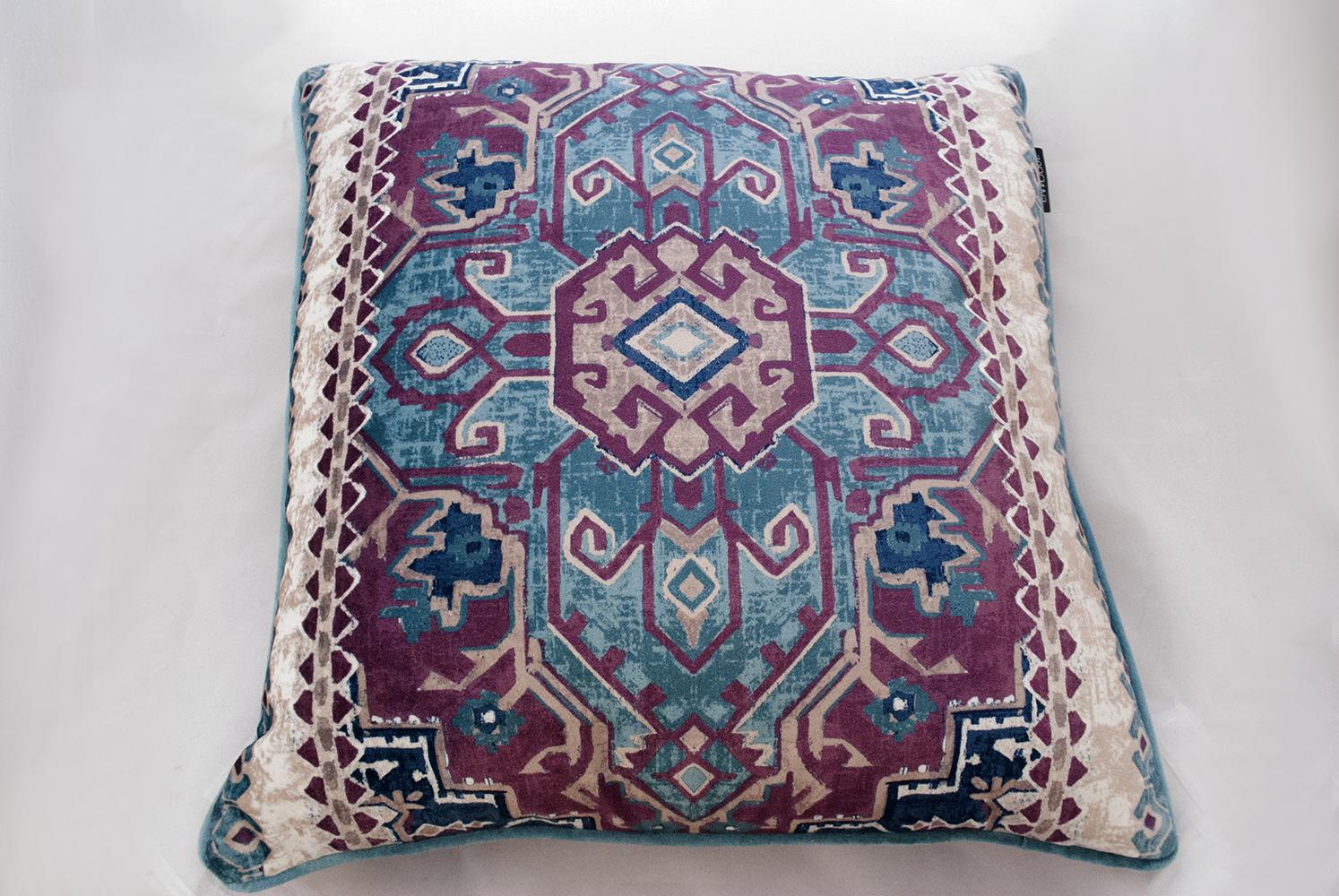 purple aztec pillow   Quantity: 2  Price: $10.00