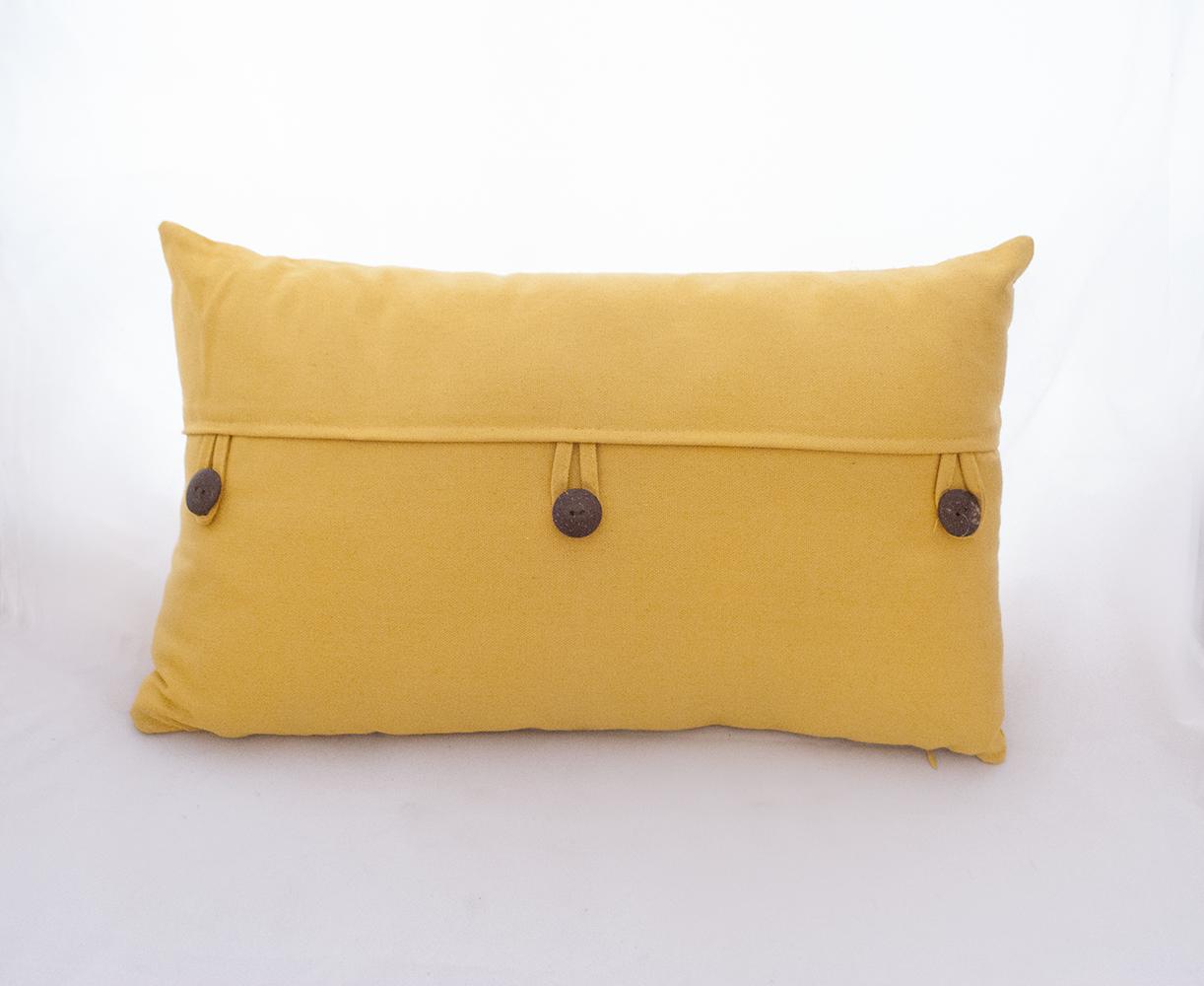 yellow button pillow   Quantity: 2  Price: $10.00