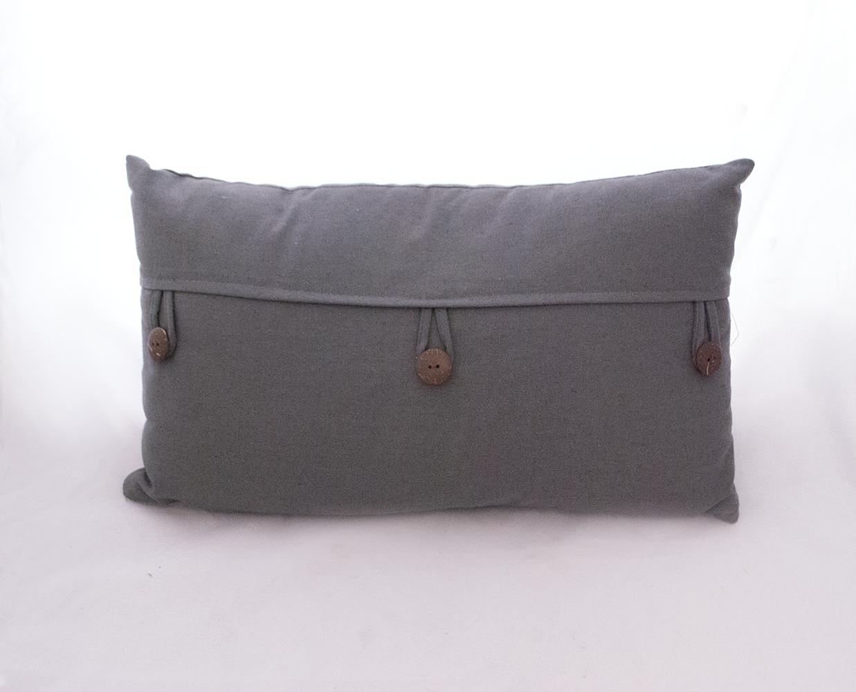 grey button pillow   Quantity: 2  Price: $10.00