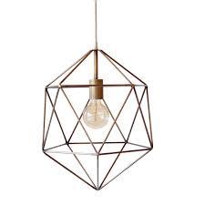 copper geo pendant light   Quantity:  Price: