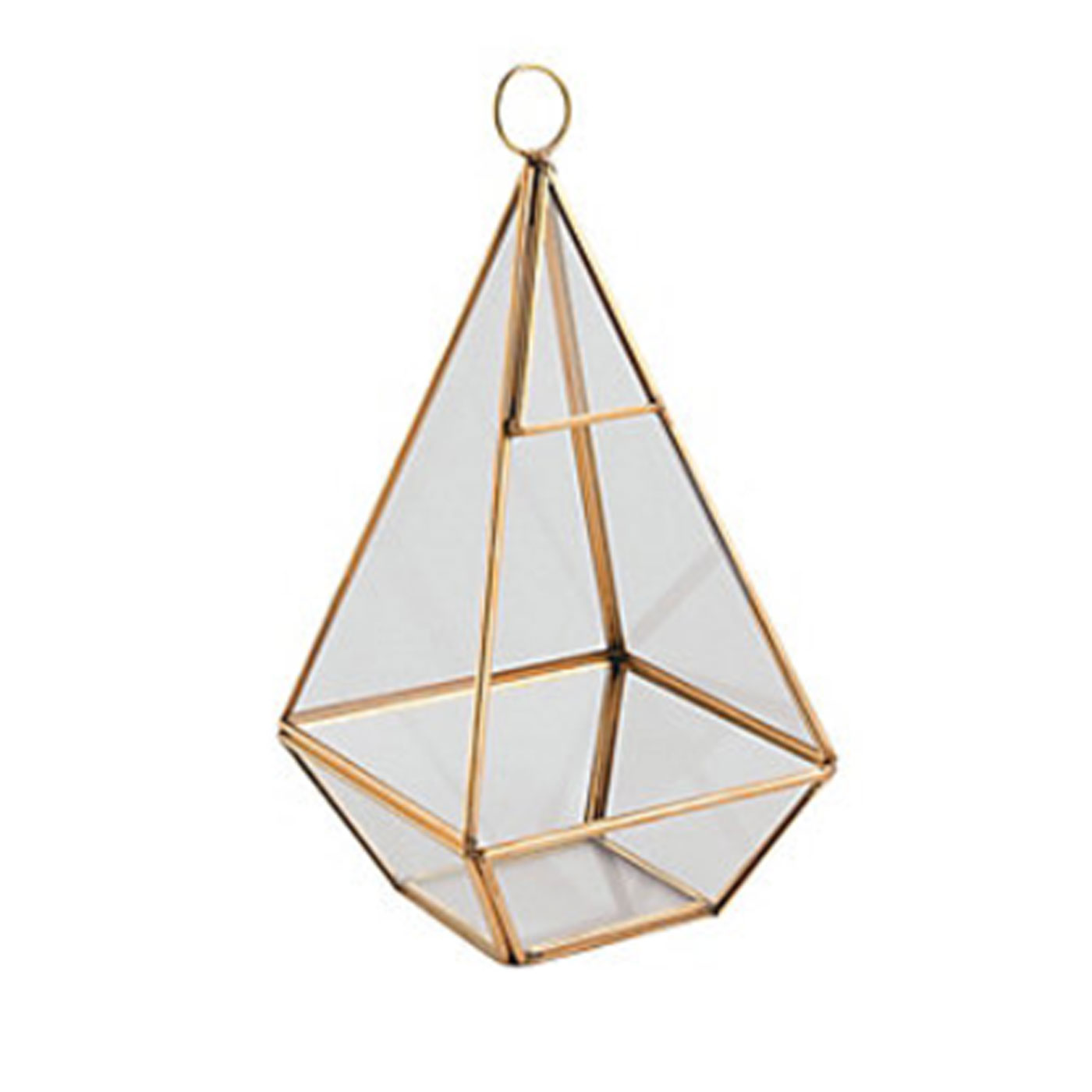 hanging triangle - gold terrarium   Quantity: 9  Price: $8.50