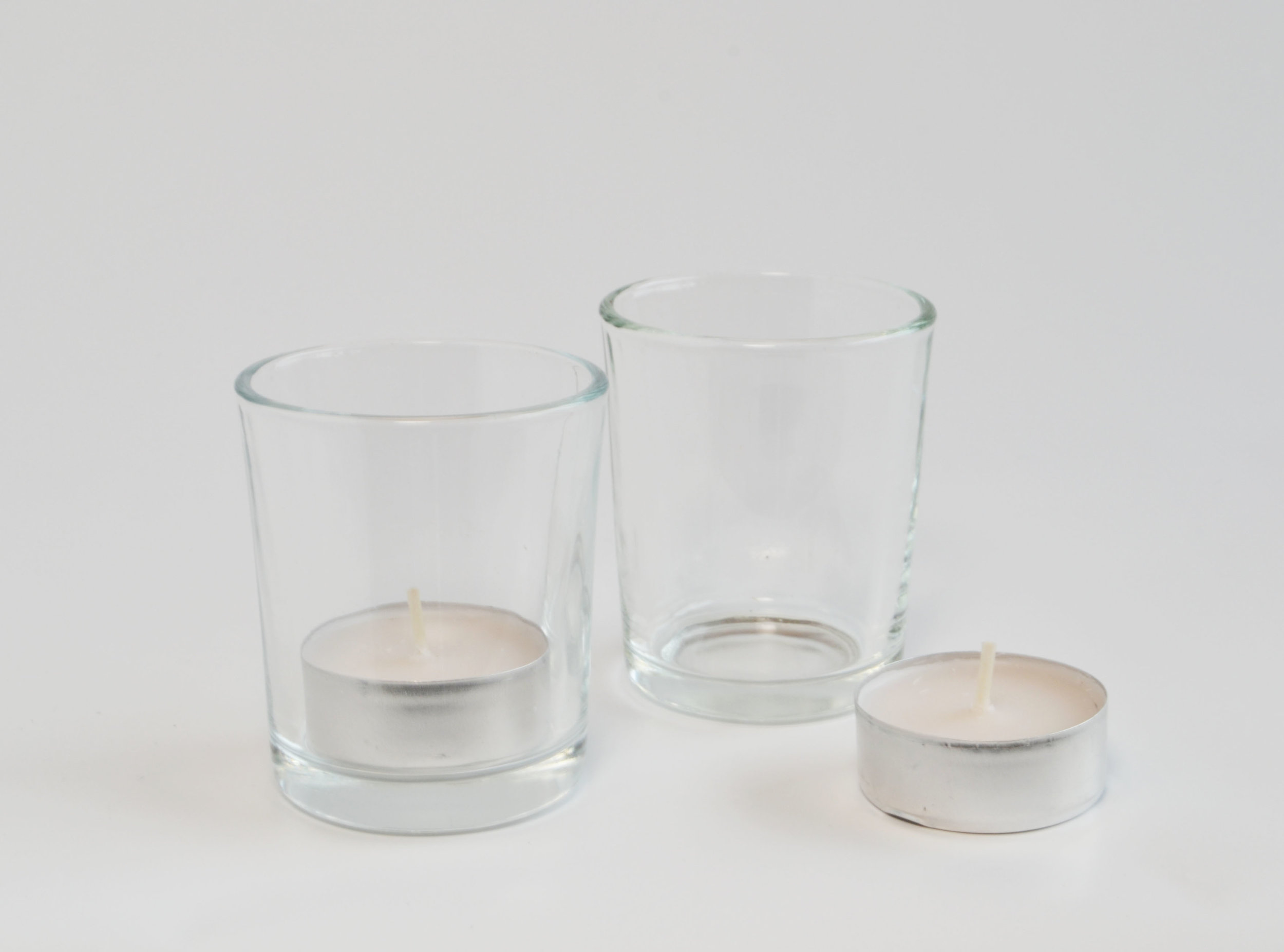 Clear votive   Quantity: 360  Price: $2.50
