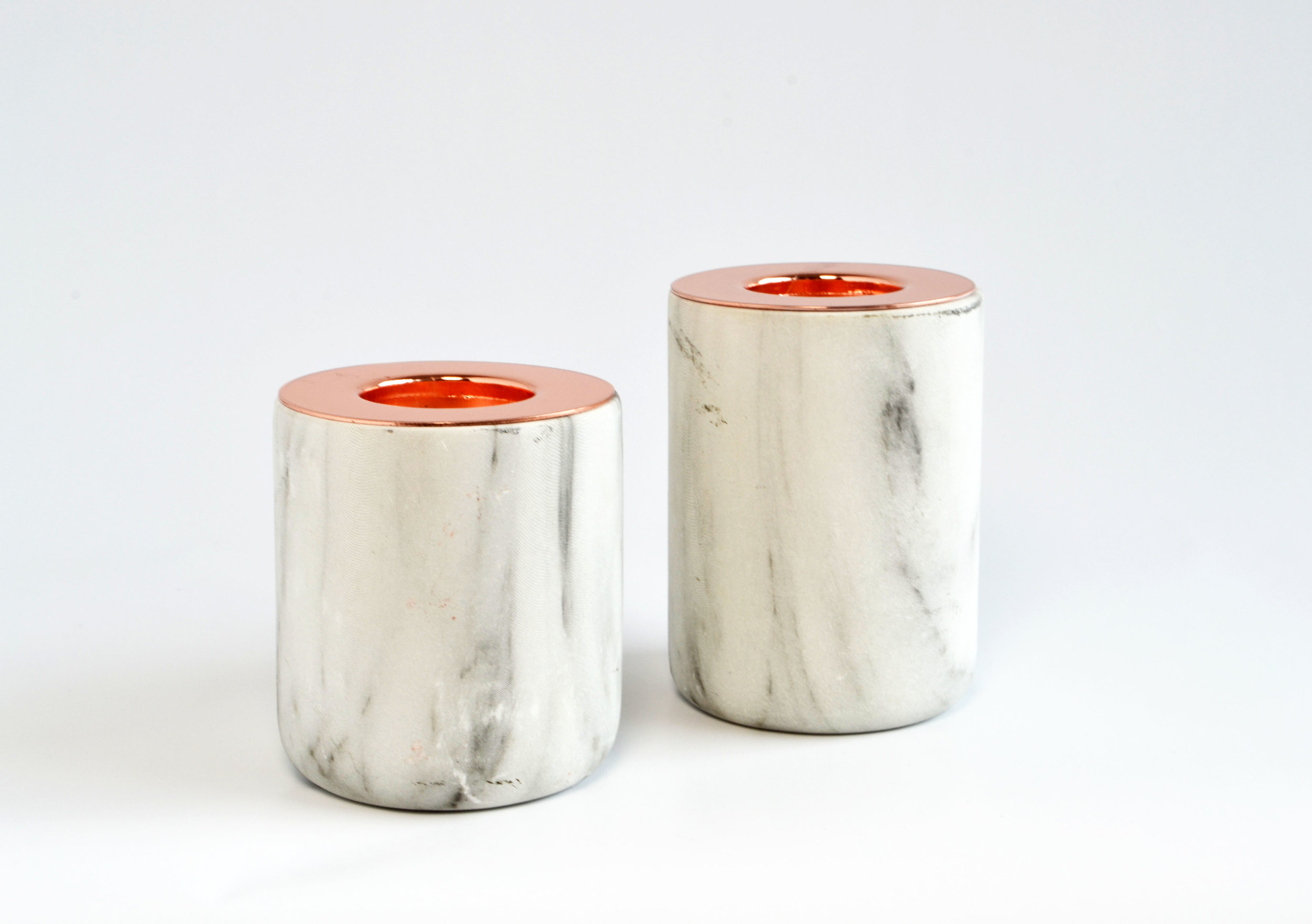 yuri Marble / copper votive   Quantity: 4  Price: $4.50