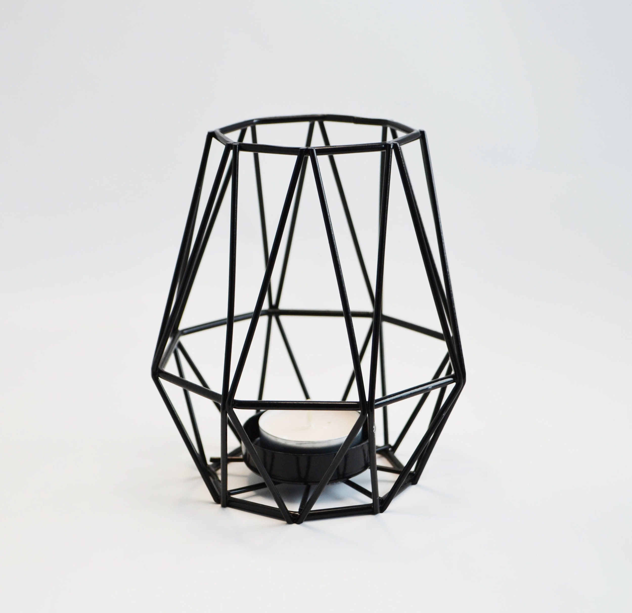 Black Diamond Geo Candle Holder   Quantity: 18  Price: $9.50