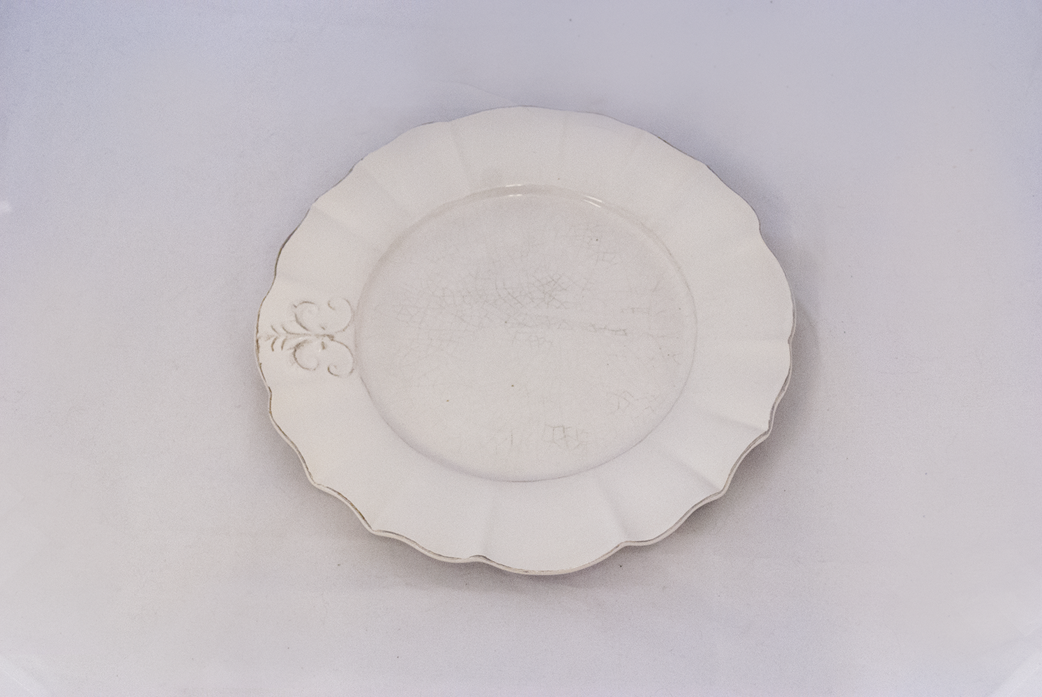 WHITe porcelain charger   Quantity: 150  Price: $3.50