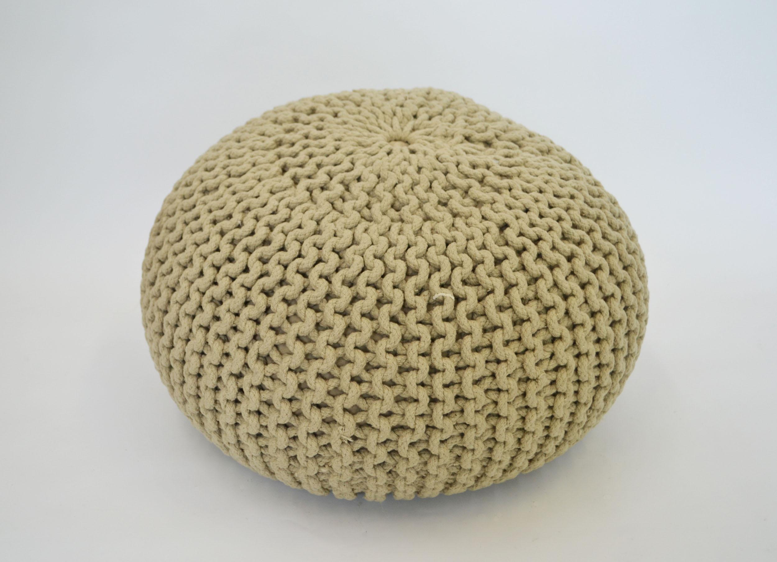knit tan POUF   QUANTITY: 1  PRICE: $25.00