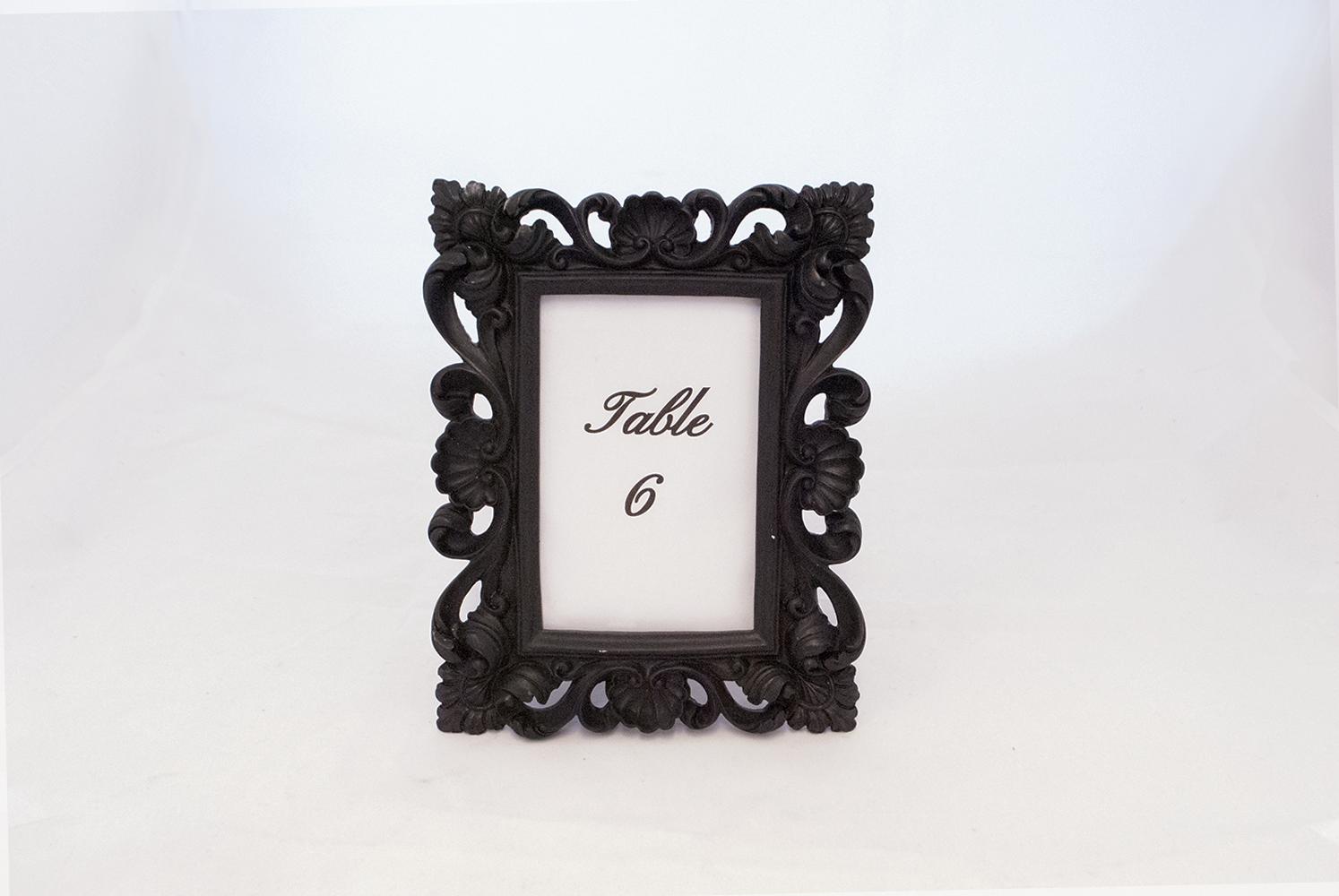 black frame   Quantity: 6  Price: $8.50