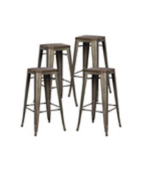 metal + wood top bar stool   Quantity: 20  Price: $10.50