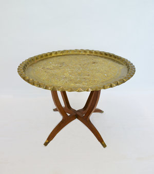 moroccan gold-top table   Quantity: 1  Price: $35.00